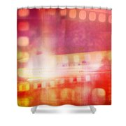 Film Negatives  Shower Curtain by Les Cunliffe