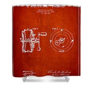 Fishing Reel Patent from 1874 Shower Curtain by Aged Pixel