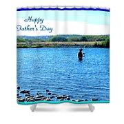 Gone Fishing Shower Curtain by Joyce Dickens