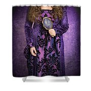 Gothic Woman Shower Curtain by Amanda And Christopher Elwell
