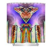 2 Headed Lizard  Shower Curtain by Belinda Lee