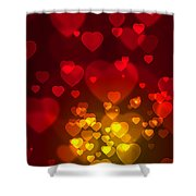 Hearts Background Shower Curtain by Carlos Caetano