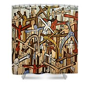 If There Was No Savior Shower Curtain by Anthony Falbo
