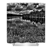 Lake Abanakee In The Adirondacks Shower Curtain by David Patterson