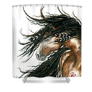 Majestic Horse Series 80 Shower Curtain by AmyLyn Bihrle