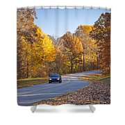 Natchez Trace Shower Curtain by Brian Jannsen