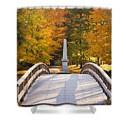 Old North Bridge Concord Shower Curtain by Brian Jannsen