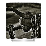 Old Rusty Anchor Shower Curtain by Erik Brede