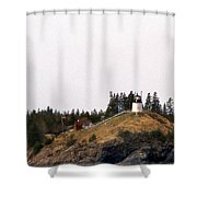 OWLS HEAD LIGHTHOUSE Shower Curtain by Skip Willits
