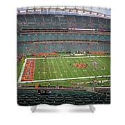 Paul Brown Stadium Shower Curtain by Dan Sproul