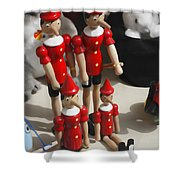 Pinocchio Shower Curtain by Craig B