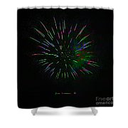 Psychedelic Fireworks Shower Curtain by John Stephens