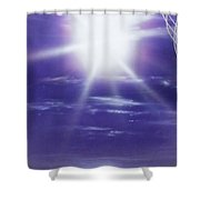 'purple Aura' Shower Curtain by Christian Chapman Art