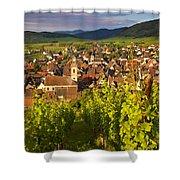 Riquewihr Alsace Shower Curtain by Brian Jannsen