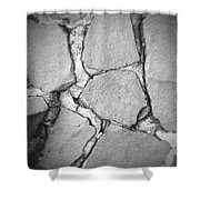 Rock wall Shower Curtain by Les Cunliffe