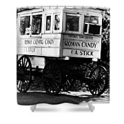 Roman Candy Shower Curtain by Scott Pellegrin