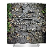 Roots Shower Curtain by Brian Wallace