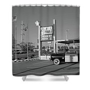 Route 66 - Anns Chicken Fry House Shower Curtain by Frank Romeo
