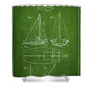 Sailboat Patent Drawing From 1948 Shower Curtain by Aged Pixel