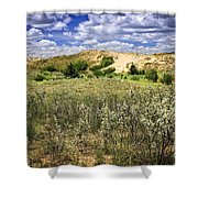 Sand Dunes In Manitoba Shower Curtain by Elena Elisseeva