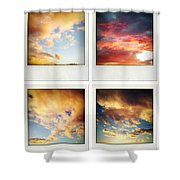 Skies Shower Curtain by Les Cunliffe