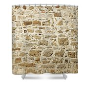 Stone Wall Shower Curtain by Matthias Hauser
