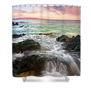 Sunrise Surge Shower Curtain by Mike  Dawson