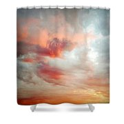 Sunset Sky Shower Curtain by Les Cunliffe