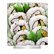 Sushi Platter Shower Curtain by Elena Elisseeva