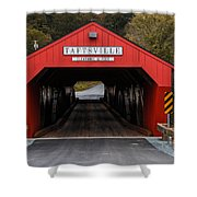 Taftsville Covered Bridge Vermont Shower Curtain by Edward Fielding