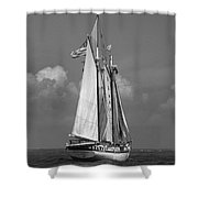 Tall Ship Harvey Gamage Shower Curtain by Skip Willits