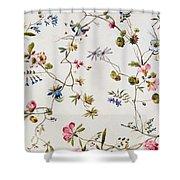 Textile Design Shower Curtain by William Kilburn