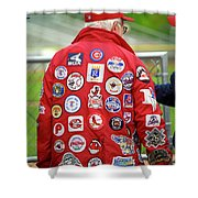 The Baseball Fan Shower Curtain by Frank Romeo