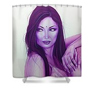 'the First Breath Of Creation' Shower Curtain by Christian Chapman Art