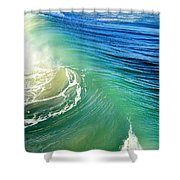 The Great Wave Shower Curtain by Laura Fasulo