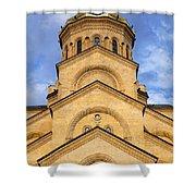 Tsminda Sameba Cathedral Tbilisi Shower Curtain by Robert Preston