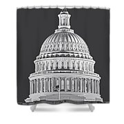 Us Capitol Dome Shower Curtain by Susan Candelario