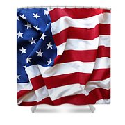 USA flag Shower Curtain by Les Cunliffe