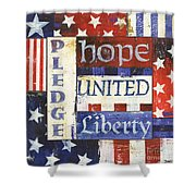 Usa Pride 1 Shower Curtain by Debbie DeWitt