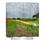Wildflower Wonderland Shower Curtain by Lynn Bauer
