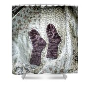 Woollen Socks Shower Curtain by Joana Kruse