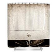 2005 Maserati Mc12 Hood Ornament Shower Curtain by Jill Reger