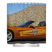2007 Chevrolet Corvette Indy Pace Car Shower Curtain by Jill Reger