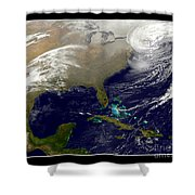2013 Blizzard In Northeast Nasa Shower Curtain by Rose Santuci-Sofranko