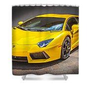 2013 Lamborghini Adventador Lp 700 4 Shower Curtain by Rich Franco