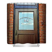24 Yawkey Way Shower Curtain by Stephen Stookey