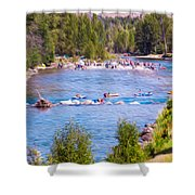 25th Annual Winthrop Rhythm And Blues Festival Shower Curtain by Omaste Witkowski