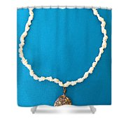 Aphrodite Urania Necklace Shower Curtain by Augusta Stylianou