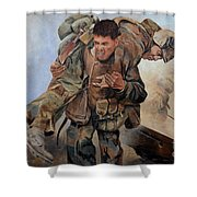 29 Palms Mural 3 Shower Curtain by Bob Christopher