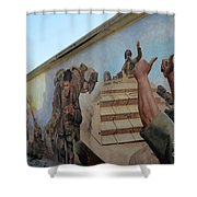 29 Palms Mural 4 Shower Curtain by Bob Christopher